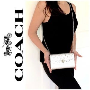 NWT COACH 3 in 1 leather perforated crossbody